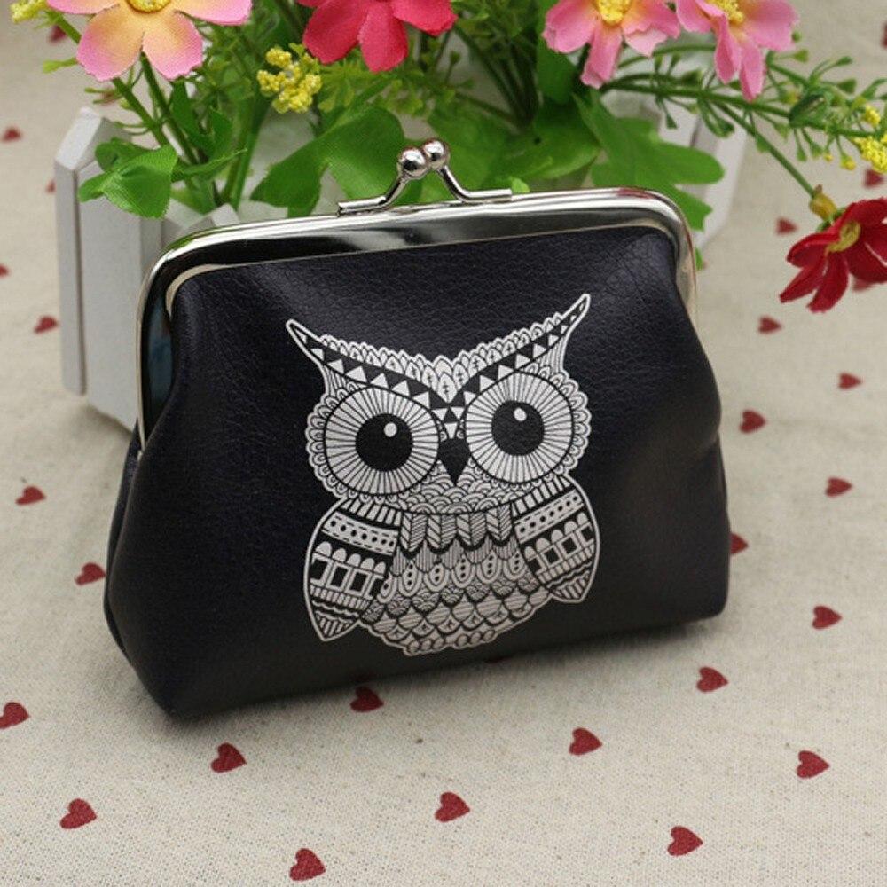 Women Cartoon Leather Small Wallet Card Holder Zip Coin Purse Clutch Handbag