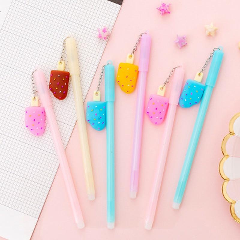 1pcs Pendant Gel Pen 0.38mm Ice Cream Cute Pens Novelty Student Kawaii Pen Cute Stationery Gel Pens Office School Supplies