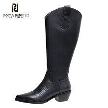 Moda estilo retro botas de salto grosso apontado dedo do pé ocidental cowboy botas de couro bordar feminino botas curtas bonito sapatos na moda