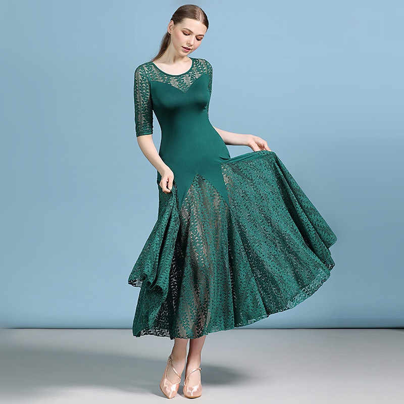Дешевые Бальные платья латинский костюм для Танго Фламенко платье вальс дешевый танцевальный костюм фокстрот танцевальное платье Женская Одежда для танцев кружево