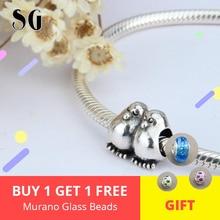 Loves Bead Silver 925 original Sterling Symbol Mandarin Duck Charms Fit Style DIY Jewelry Bracelets bead