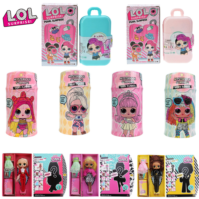 Brand New Original LOL Dolls Surprise HAIR GOALS DIY Lol Pets Toy Educational Novelty For Kid's Birthday Christmas Gift