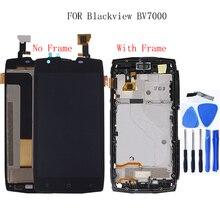 """Blackview için BV7000/BV7000 Pro LCD monitör + dokunmatik ekran digitizer Kiti + Çerçeve ile 5.0 """"1920x1080 P LCD + ücretsiz Aracı"""