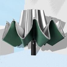 Fashion Folding Automatic Reverse Umbrella Men Women Rain 10Ribs Large Umbrellas Business Portable Long Handle Parasol