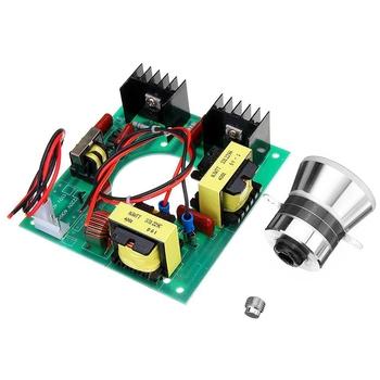 220V 50W ultradźwiękowy Generator moduł zasilania + 1Pc 40Khz ultradźwiękowy przetwornik wibrator tanie i dobre opinie green + silver metal + PCB 50W 40KHZ Power Driver Części spryskiwaczy warzyw CN (pochodzenie)