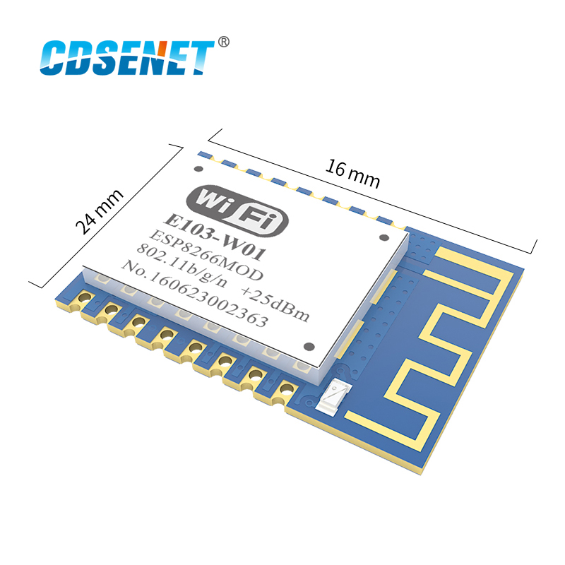 Беспроводной Радиочастотный приемопередатчик ESP8266EX, 1 шт., Wi-Fi модуль, 2,4 ГГц, CDSENET E103-W01 ESP 8266 SMD 2,4 ГГц, радиочастотный приемник передатчика ...
