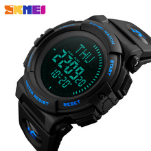 цена SKMEI Men Compass Watch Countdown Summer Time Multifunction Sports Watches Timekeeping Waterproof Wristwatches Relogio Masculino в интернет-магазинах