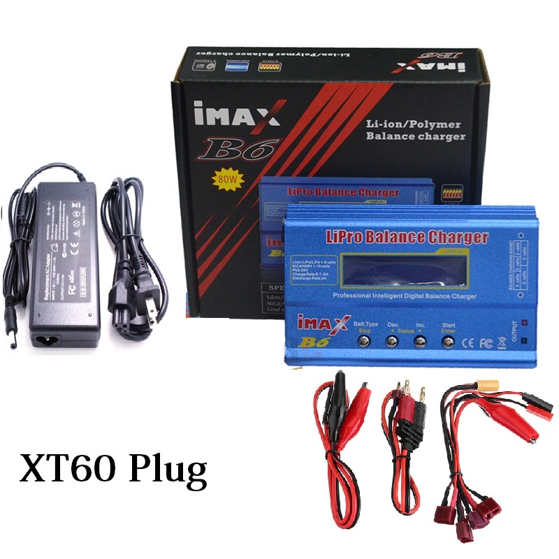 iMAX B6 Lipro NiMh Li-ion Ni-Cd RC Battery Balance Digital Charger   AC POWER 12v 5A Adapter for NiMH NiCd Battery B6 80W Max