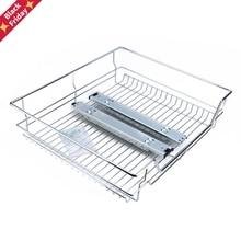 Under Shelf Storage Basket Pull Out Sliding Basket Drawer Storage Cabinet 600mm