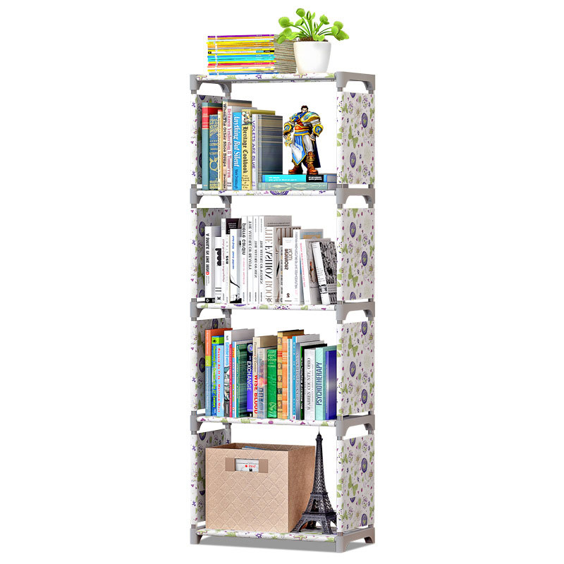 Bookshelf Storage Shelve for Books Simple Asemmbly Book Rack Bookcase for Home Furniture Boekenkast Home Furniture BookcaseBookcases   -