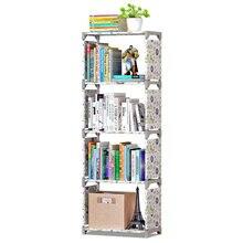 Kitaplık depolama raf kitaplar için basit Asemmbly kitap rafı kitaplık ev mobilya Boekenkast ev mobilya kitaplık