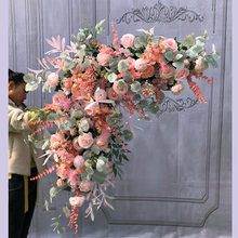 1m Triangular Floral Wedding Decoration for wedding Corner Flower arrangement Artificial Flower wall background
