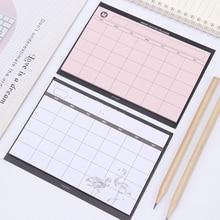 1 Pza/30 hojas planificador semanal Simple creativo Calendario de escritorio de libros Plan DE mes rasgar el Plan de resumen de la Oficina del cuaderno