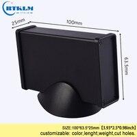 Aluminium project box diy enclosure for junction box custom housing electronics power instrument case 100*63.5*25mm