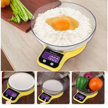 Multifunction LCD Digital Scale 3kg/5kg 0.1/1g Electronic Kitchen Scale Weighing Balance Stainless Steel Scales for Bake Cooking