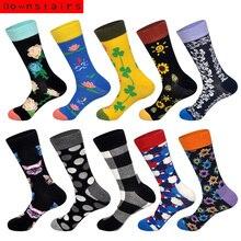 Downstaris Men Socks 10 Pairs/Lot Flower Cat Hip Hop Cotton Gifts for Art Classical Happy Lenceria Lingerie Bralette