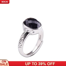 S925 sterling silver jewelry cut blue sand ring 2019 new fashion woman's silver ring цена 2017