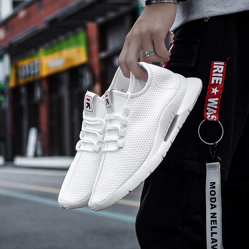 Wholesale Hot Sale Light Weight Sport Sneakers Women Air Mesh Breathable White Men Trainers Outdoor Jogging Running Shoes slip-on shoe