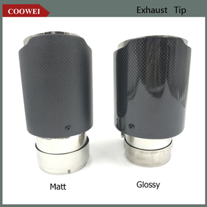 Two Type glossy/Matt Carbon Fiber+Stainless Steel Exhaust Tip Ak Muffler CAR MODIFIDE For BMW(China)