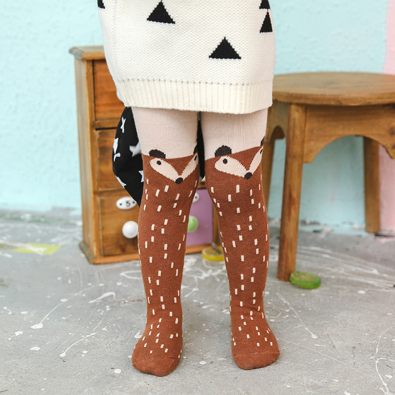 New Autumn Cartoon Fox Baby Girl Tights Cotton Cute Children Stocking  Pantyhose For Kid 0-5 Years Best Selling YYT358