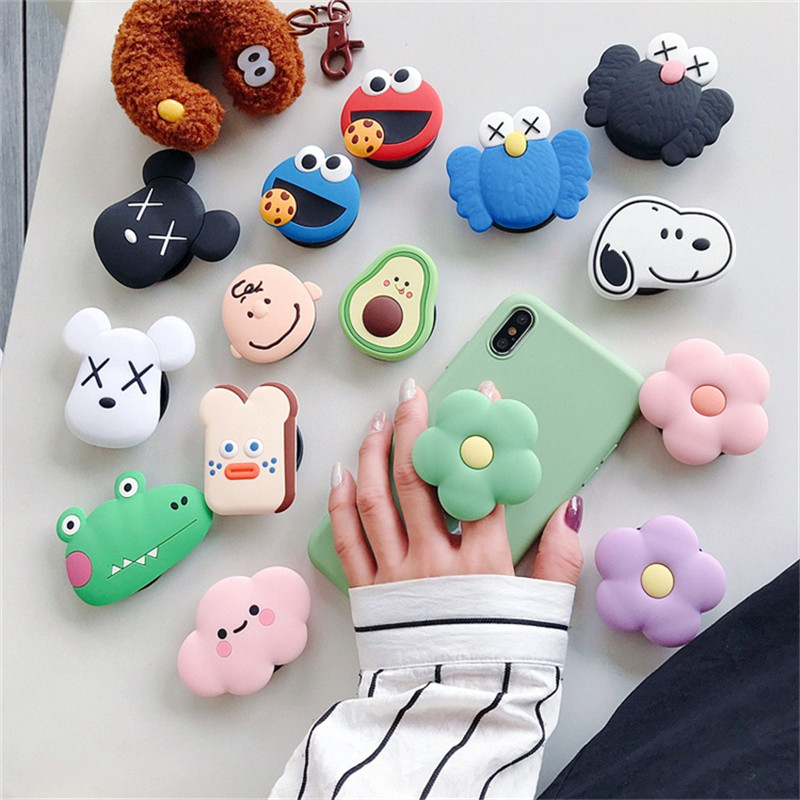 Lazy Cartoon Mobile Phone Grip Bracket Phone Extension Phone Finger Ring Bracket For IPhone X XS 7 Xiaomi Redmi