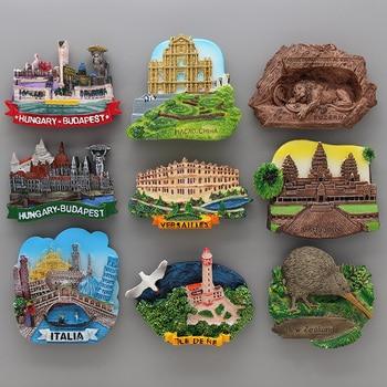 Lucerne lion Macao Italy Venice New Zealand 3D magnetic refrigerator sticker Souvenirs home decoration Budapest Hungary Cambodia 1