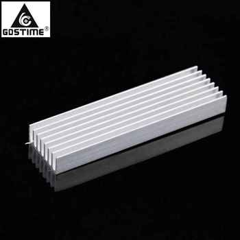 Gdstime 100x28x6mm Aluminum Heat Sink 100mm x 28mm x 6mm DIY Heatsink Cooling Cooler Radiator image