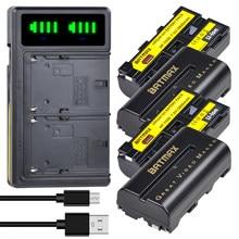 2600mah NP-F570 NP-F550 np f550 f570 f530 f330 luz bateria + lcd carregador usb duplo para yongnuo viltrox vídeo conduziu a luz