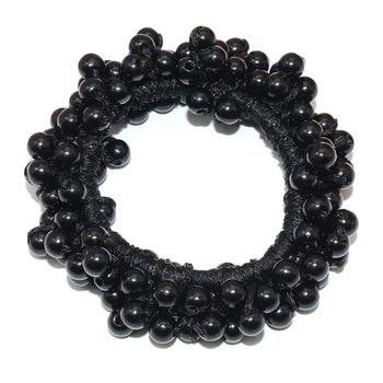 14 Colors Woman Elegant Pearl Hair Ties Beads Girls Scrunchies Rubber Bands Ponytail Holders Hair Accessories Elastic Hair Band 9