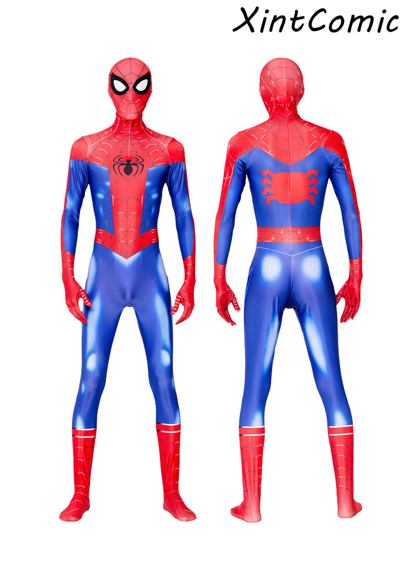 Kids Spider-Man Into the Spider-Verse Peter Parker Cosplay Costume Zentai Spiderman Pattern Bodysuit Catsuit Jumpsuits image