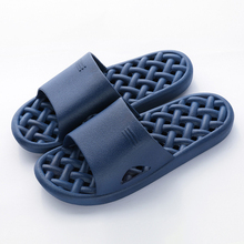 Bathroom Slippers Men Hollow Man Slippers PVC Non-slip Slippers for Home Unisex Indoor Summer Shoes Solid