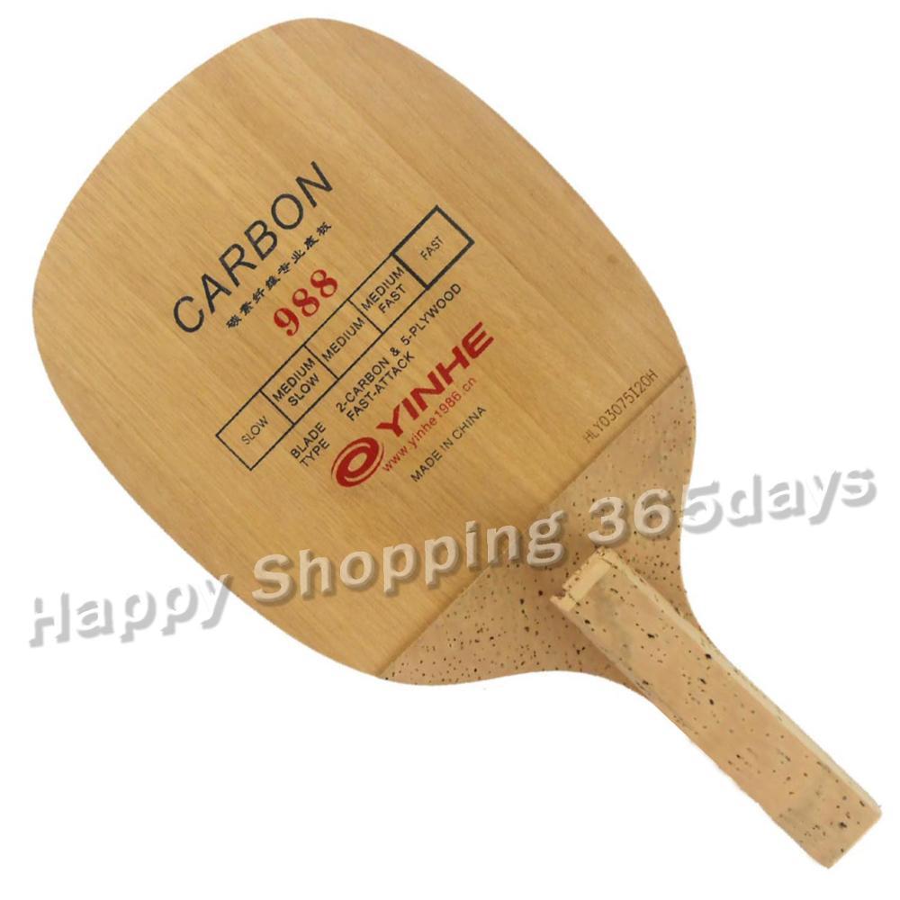 Original Yinhe Vía Láctea Yinhe 988 japoneses penhold hoja para tenis de mesa ping-pong YINHE Qing Pips largo de goma/OX Topsheet Galaxy tenis de mesa de goma de ping pong esponja