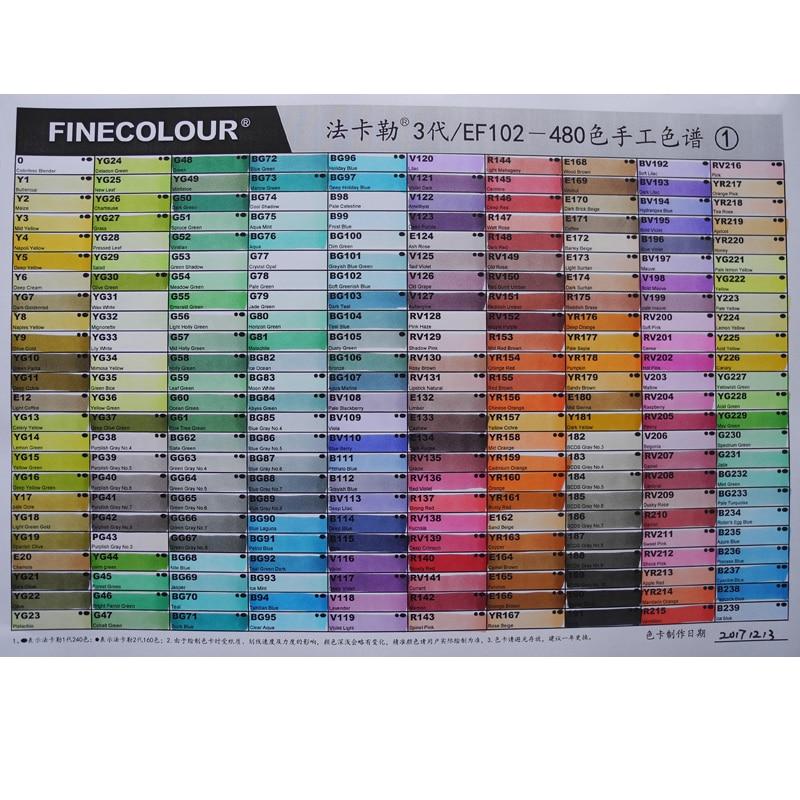 FineColour EF102 Skin Tone Colour Set Sketch Marker Pen Dual Head Markers Set SG