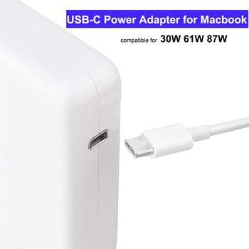 30W, 61W 87W USB tipo C de cargador USB C adaptador de alimentación para portátil Macbook Pro 12 /13 pulgadas Huawei Matebook HP DELL XPS cuadernos