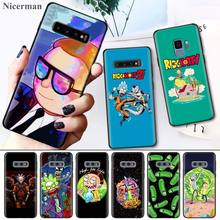 Rick And Morty Black Silicone Case Cover Coque for Samsung Galaxy S8 S9 S10 S10e 5G Note 8 9 10 5G Plus S7 S7 Edge S8+ S9+ S10+ цены онлайн