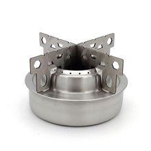 Наружная спиртовая печь маленькая круглая переносная нержавеющая сталь для пикника кемпинга кухонная горелка с подставкой