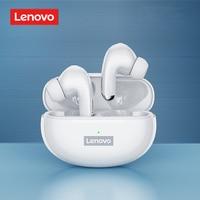 Lenovo-Mini auriculares inalámbricos LP5 con Bluetooth, dispositivo de audio estéreo 9D, a prueba de agua, con micrófono, para iPhone 13, Xiaomi, LP40