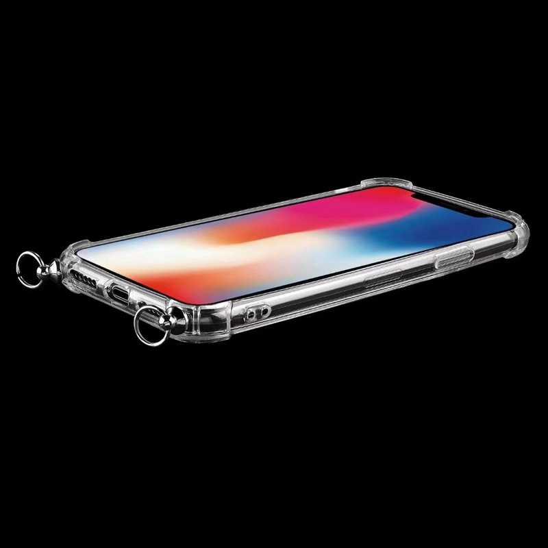 Bracelet Cordon Chaîne Étui de Téléphone Transparent Pour iphone 11 cas 11 Pro Max 12 5 SE 6 6S 7 8 Plus X XR XS Max Collier Lanière Cas