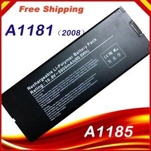 """Image 5 - Özel fiyat pil için Macbook 13 """"MAC A1185 A1181 MA566FE/A MB881LL/A beyaz 55Wh"""