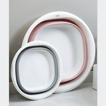 Пластик складные бассейны Портативный умывальники складывающиеся
