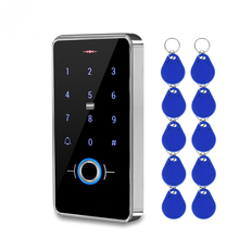 Outdoor IP68 Waterproof Fingerprint Access Control Keypad RFID Keyboard Touch Panel Electronic Door Opener System 13.56MHz Cards