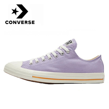 Authentic new Converse Chuck Classic All Star men and women neutral Skateboarding sneakers casual purple low plat canvas Shoes original authentic adidas superstar shamrock neutral skateboarding shoes men and women casual sneakers lightweight cozy bb2146