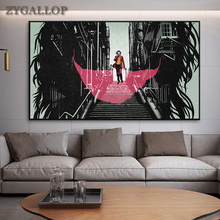 The Joker Wall Art Canvas Paintings 2019 Joaquin Phoenix DC Movie Comics Posters and Prints Wall Pictures For Living Room Decor dc comics the sequential art of amanda conner