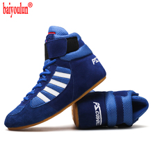 2021 Authentic VeriSign wrestling shoes for men training shoes tendon at the end leather sneakers professional boxing shoes