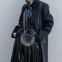 Cinturón de piel sintética con cadena para mujer, bolso de hombro individual, cinturón para mujer, accesorios de moda, uso multifunción
