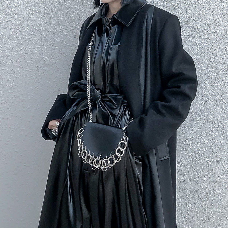 Pu Leather Woman Belt Chain Single Shoulder Bag Female Girdle Fashion Accessories Multifunction UseWomens Belts   -