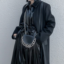 Pu Leather Woman Belt Chain Single Shoulder Bag Female Girdle Fashion Accessories Multifunction Use
