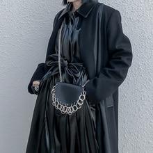 Pu deri kadın kemer zinciri basit omuz çantası kadın kuşak moda aksesuarları çok fonksiyonlu kullanım
