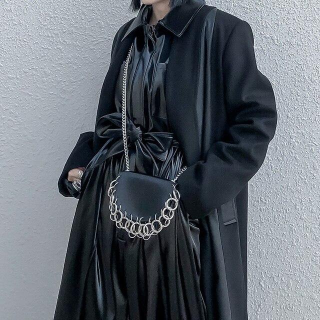 Sac à bandoulière en cuir Pu pour femmes, avec chaîne simple, accessoires de mode pour femmes, multifonction