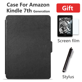 Smart Case for Kindle 7th Generation case cover for Amazon kindle 7 2014 PU Leather for kindle 7 magnetic capa gift film pen цена 2017